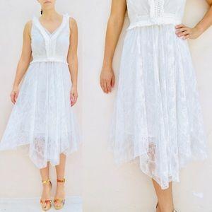 Kobi Halperin Brooke white lace dress. Size 4 NWT